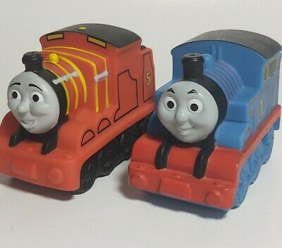Thomas and Friends Bath Water Toys: James & Thomas 2 pc Lot Trains Mattel