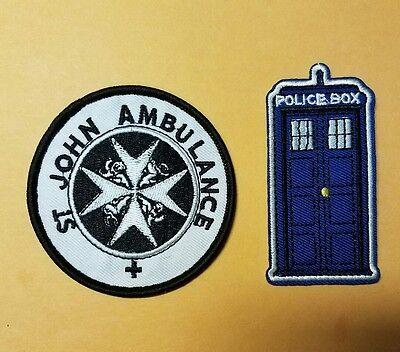 Doctor Who Patch Set (2)  TARDIS & ST John Ambulance