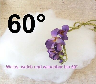 🌿 FEINSTE EDLE Füllwatte Bastelwatte Hochbauschwatte Teddy-Watte 500g 🌿