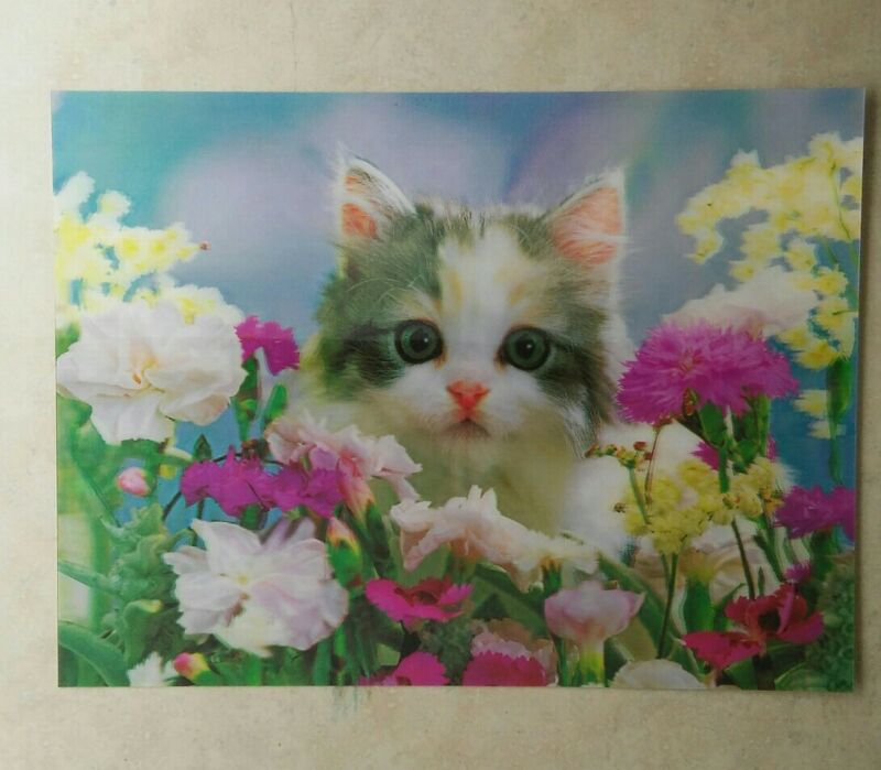 Cat lenticular poster print