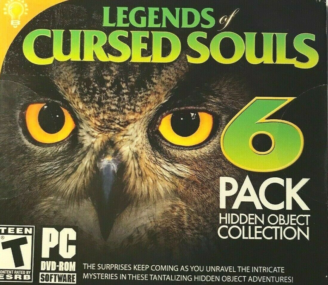 Computer Games - Legends Of Cursed Souls 6 Pack PC Games Windows 10 8 7 XP Computer hidden object