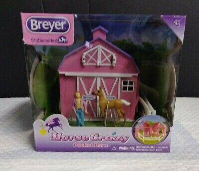 Breyer Stablemates Horse Crazy Pocket Barn and Horse Play Set