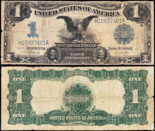 Circulated 1899 $1 BLACK EAGLE Silver Certificate! FREE SHIPPING! H10837481A