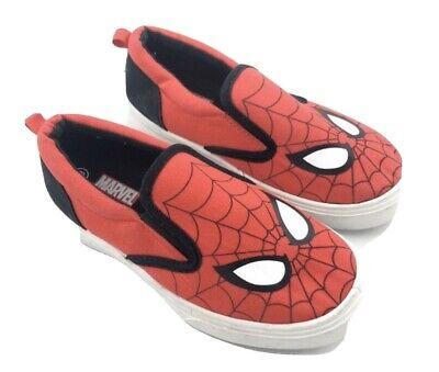 New Toddler Boys Marvel Spiderman Tennis shoes  Slip Ons Boat Vans Size 6