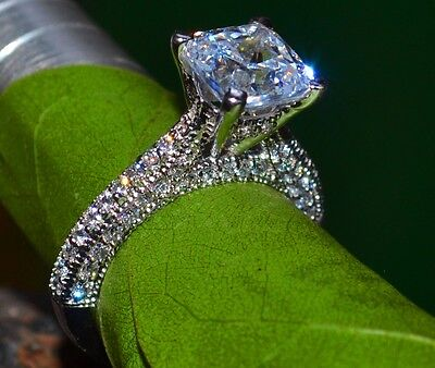 2.56 CT CUSHION CUT BRIDAL ENGAGEMENT RING 14KT SOLID WHITE GOLD