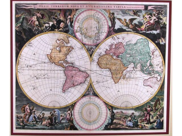 Antique map, Orbis Terrarum Nova et Accuratisima Tabula