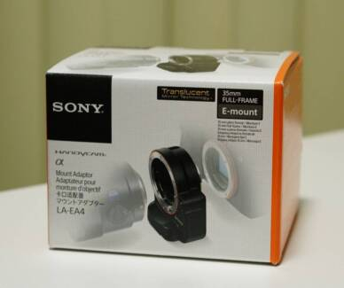 Sony LA--EA4 A to E-Mount Lens Adapter with Translucent Mirror Artarmon Willoughby Area Preview