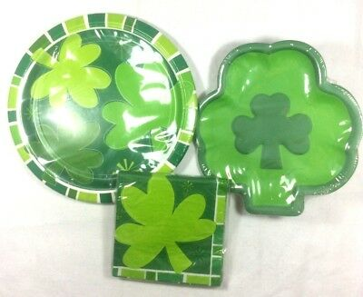 St. Patricks Day Party Luncheon Set 8 Plates 8 Dessert 16 Napkins Supplies 1-6d