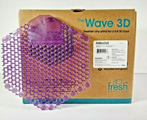 10 The Wave 3D Air Freshener & Urinal Deodorizer Fabulous/Purple Fresh Products