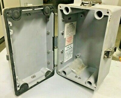 Used Hoffman E-366543 Polypro Electrical Enclosure Box 10x6.5x7201151