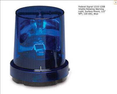 Federal Signal 121s 120b Light 120vac Rotating Blue Series A Metal Base