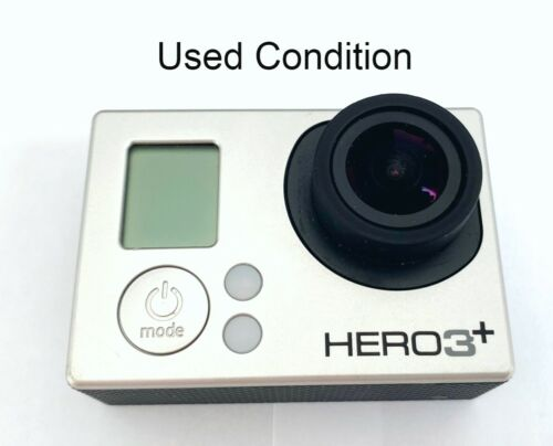 Used GoPro HERO 3+ Plus silver 1080P 10MP HD Sport Action Camera Camcorder WiFi