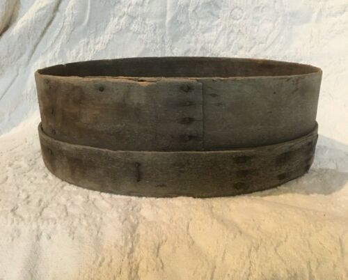 "Farm Primitive Antique 18"" Grain Sieve Early Bentwood General Store Flour Sifter"