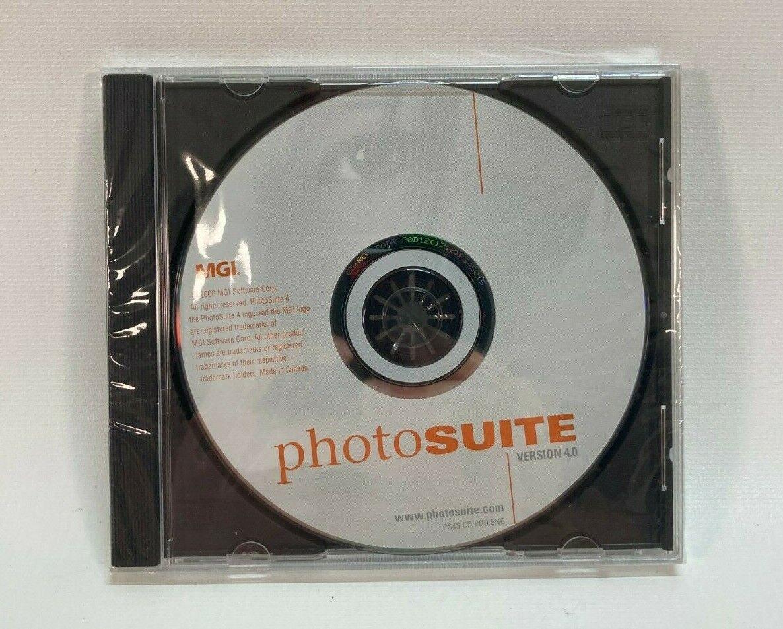 Software PC Photosuite Version 4.0 MGI Photo Suite NEW SEALED Jewel Case