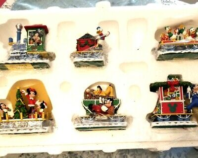 "Mickey Mouse Donald Duck Goofy Mickey's Christmas Train Set New ""no box"" LK"