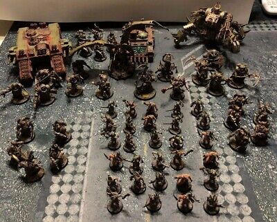 Warhammer 40K Death Guard Army - Fully Painted and Based
