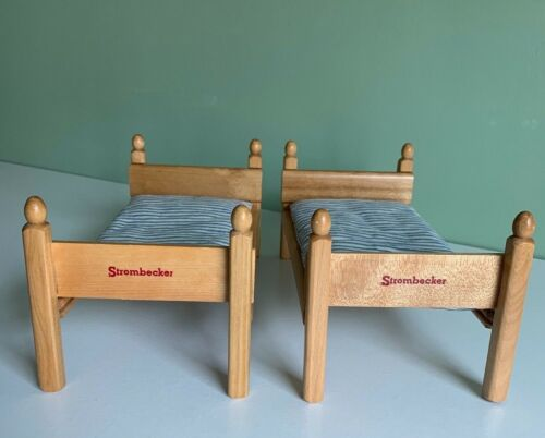 Vintage Strombecker Doll Bunk Beds with Mattresses - EUC