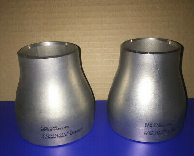 2 New 3 X 2 Sch 10 Concentric Reducer Stainless Steel Weld Fittings Adapter