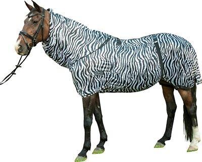 ⭐️⭐️ HKM Ekzemerdecke Zebra mit Halsteil / Fliegendecke, 75-165 cm, NEU⭐️⭐️ Neue Zebra