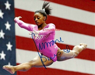 Simone Biles 2016 Usa Olympics Gymnast Signed Autographed 8X10 Photo Rp