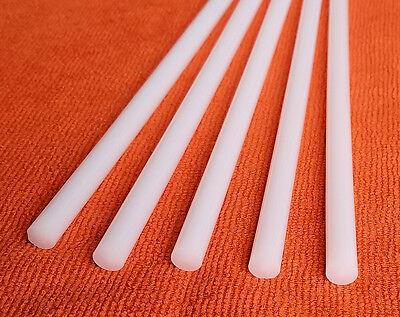 2 White 38 Diameter 18 Inch Long Acrylic Plexiglass Lucite Color Rod Clear