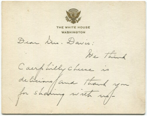 First Lady Grace Coolidge Autograph Letter Signed on White House Card