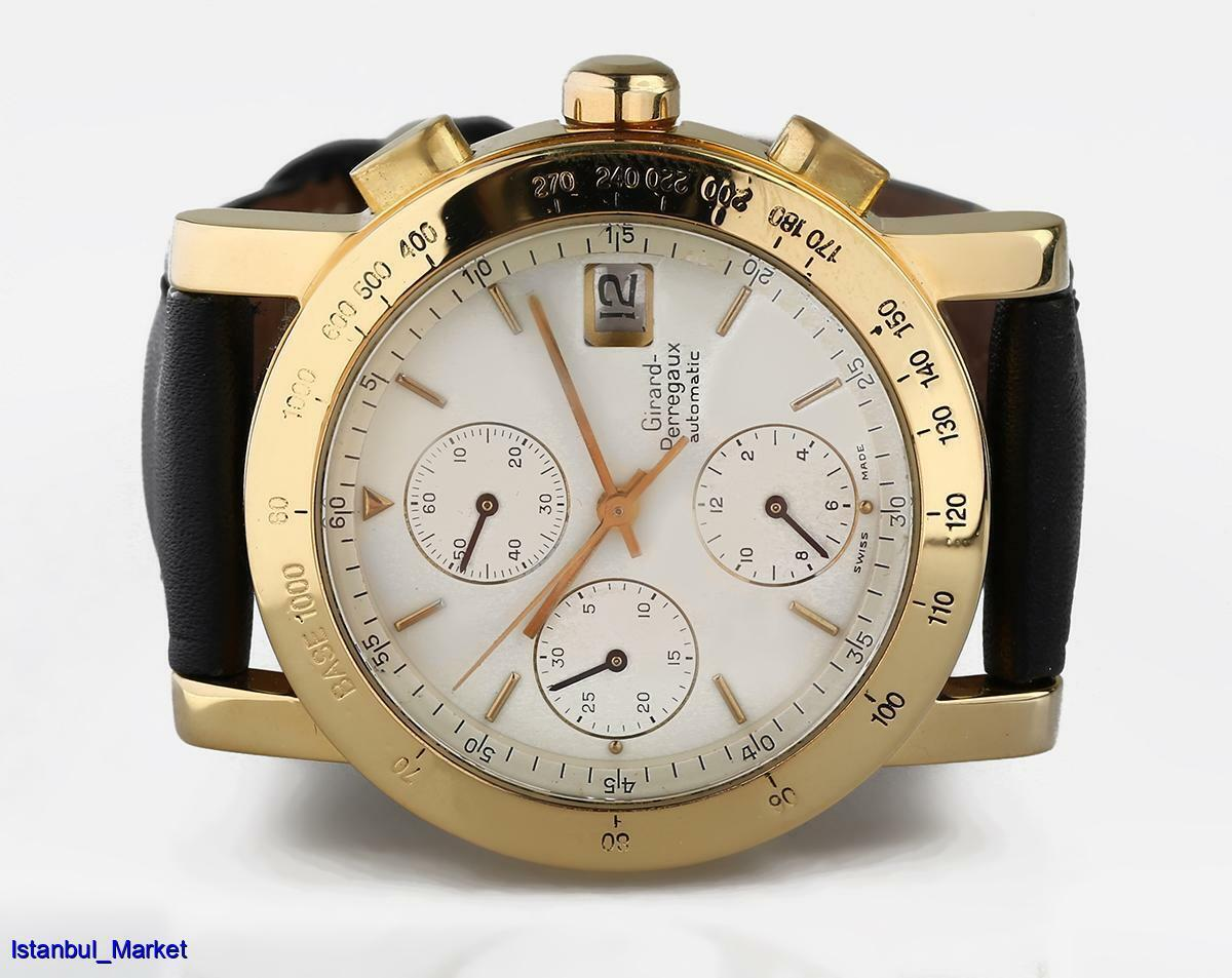 GIRARD PERREGAUX Ref#7000 GBM 18k Yellow Gold Chronograph Wristwatch - watch picture 1