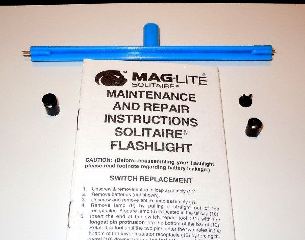 Aaa mini maglite solitaire repair switch and installation tool kit item number 172659087414