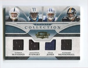 2008 Donruss Threads Rookie Collection Materials Quad Darren McFadden 032/100