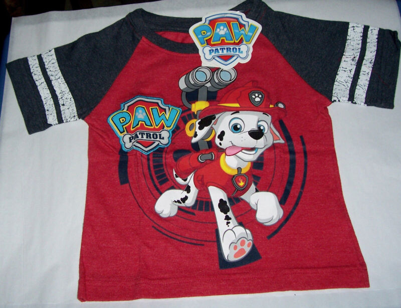 Paw Patrol Toddler Boys Size 2T Marshall Dalmation Short Sleeve T Tee Shirt
