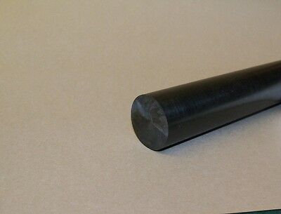 "Delrin/Acetal Rod Black 1"" diameter 6"" long"