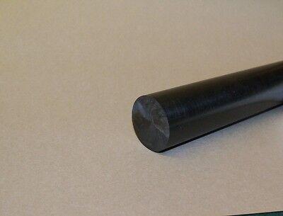 """Delrin/Acetal Rod Black 1"""" diameter 6"""" long"""