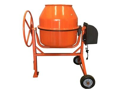 8.83 Cubic Feet Electric Cement Concrete Stucco Mortar Mixer Heavy Duty 1 38 Hp