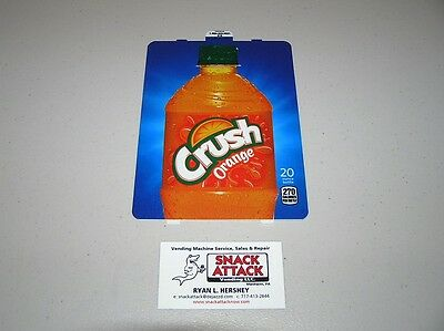 Dixie Narco 501e 276hv Soda Vending Machine Orange Crush Bottle Vend Label