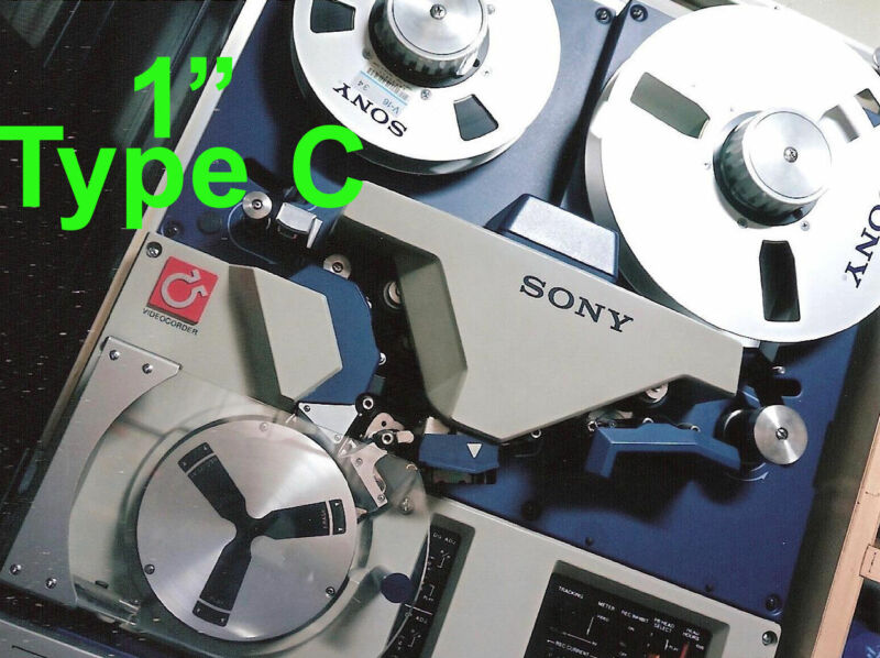 """1"""" One Inch Type C to .MP4 VTR Video Tape Reel Digitizing File Transfer SERVICE"""