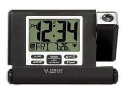 616-1908 La Crosse Technology Travel Projection Alarm Clock with USB Refurbished