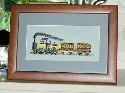 A new embroidered Stevengraph type picture framed -- The present time -- Train