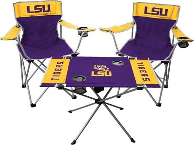 LSU Tigers Tailgate Kit 2 Chairs and -