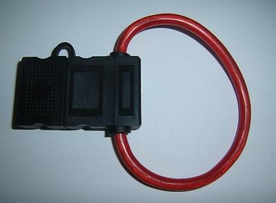 8 Gauge AWG Ga Water Resistant MAXI Fuse Holder With Cover Car Audio Amp Install