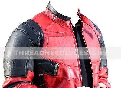 Deadpool Wade Wilson Ryan Reynolds Lederjacke Cosplay Kostüm (Deadpool Kostüm Ryan Reynolds)