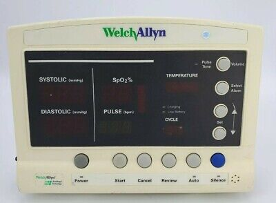 Welch Allyn 52000 Series Vital Signs Monitor No Cables No Adapter 15430