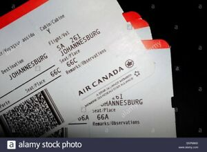2 Air Canada round trip tickets to anywhere in the world