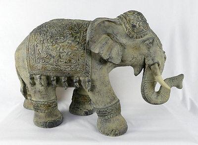 indischer Elefant Feng Shui Skluptur Figur Dekofigur 73 cm lang Statue NY12-a