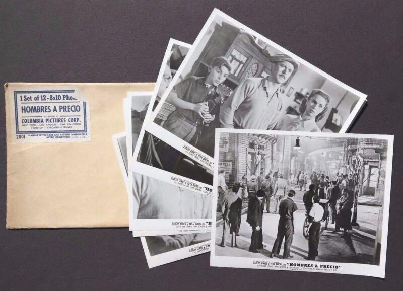 Vtg 1950 Hombres A Precio Movie Press Kit Photos (Carlos Cores / Yey Duciel)