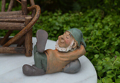 Miniature Dollhouse FAIRY GARDEN Accessories ~ Sleeping Gnome ~ NEW for sale  Shipping to Canada