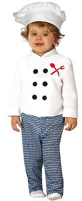 Baby Chef Outfit (Baby Boys Girls Chef Cook Job Uniform Fancy Dress Costume Outfit 6-12)