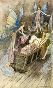 A2-Book-Of-Fairy-Poetry-Warwick-Goble-1920-Picture-print-on-Canvas