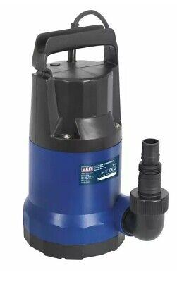 Sealey WPC100 Submersible Water Pump 100ltr/min 230V UK Main Power Plug Pump