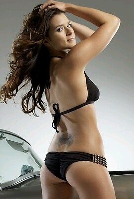 Danica Patrick Hot Glossy Photo Blk Bikini Hot