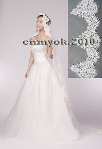 Mantilla-bridal-wedding-fishbone-lace-veil-white-and-ivory-with-beading-sequins